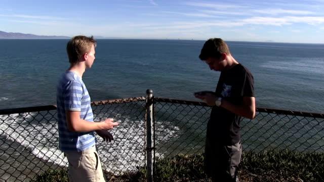 Teenage boys at Santa Barbara cliff video