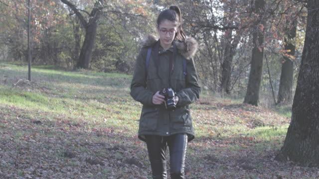 Teenage girl photographer video