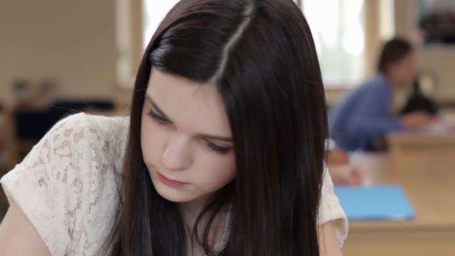 Teenage Girl Studying video