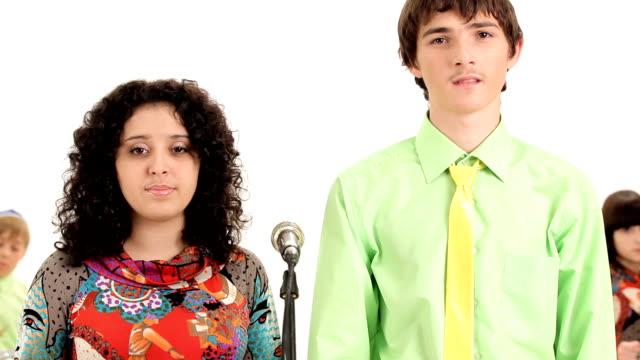 Teenage musical band video