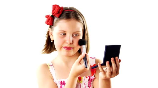 ragazza adolescente make-up - nastro per capelli video stock e b–roll