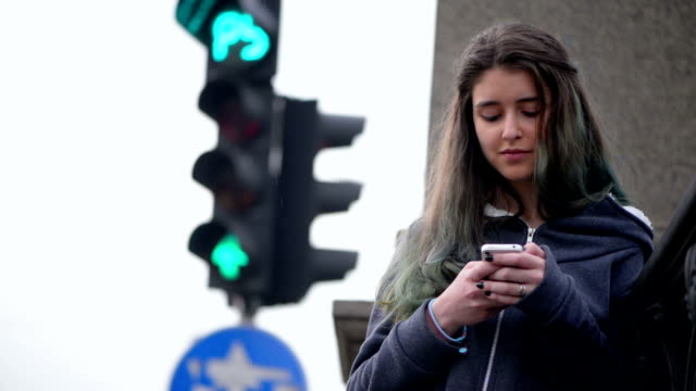 Teenager texting video