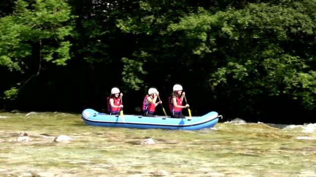 Teenagers on rafting video