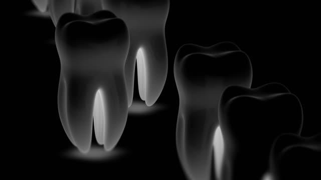 teeth. looping footage has 4k resolution - icon set healthy video stock e b–roll
