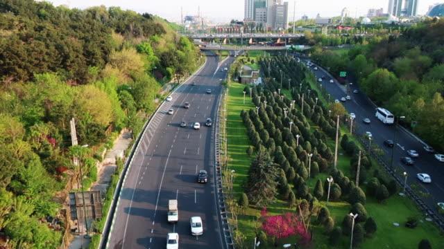 德黑蘭市景和高速公路 - 德黑蘭 個影片檔及 b 捲影像