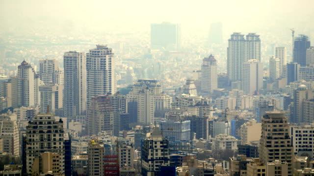 Tehran city buildings video