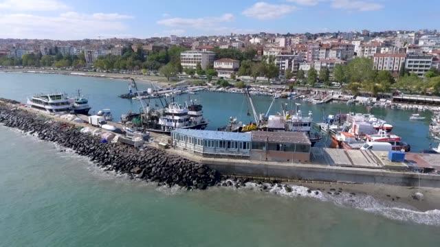 vídeos y material grabado en eventos de stock de el tekirdag marina - anclado