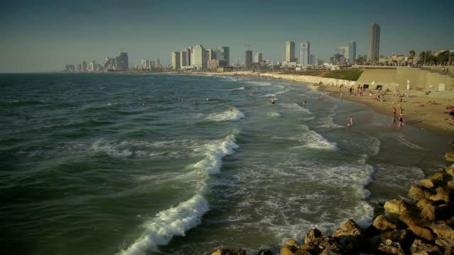 Vue de la plage de Tel Aviv - Vidéo
