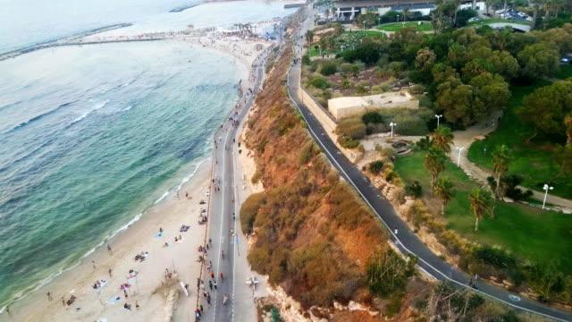 Tel Aviv beaches from above