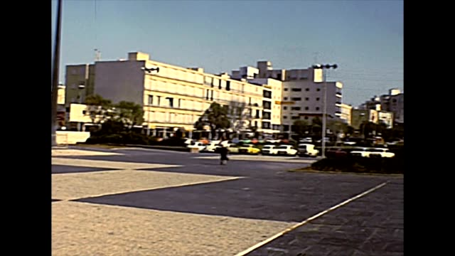 Tel Aviv city square in 1970s