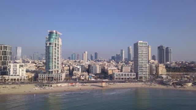 Tel Aviv skyline. TLV coastline from a Mediterranean point of view