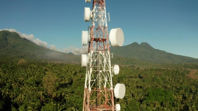 Telecommunication tower, communication antenna in asia