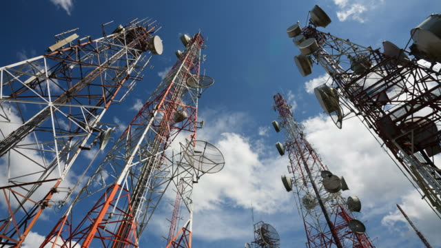 Telecommunication Tower Timelapse HD1080 video
