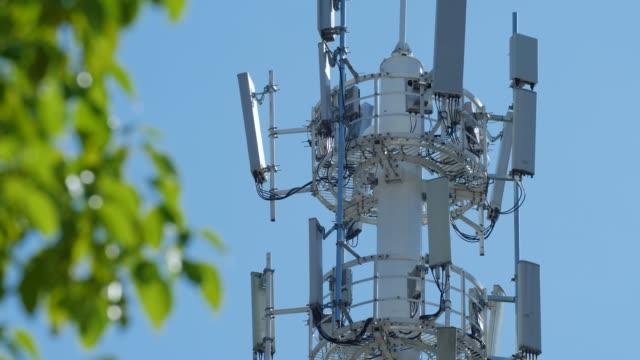 telekommunikationstorn - antenn telekommunikationsutrustning bildbanksvideor och videomaterial från bakom kulisserna