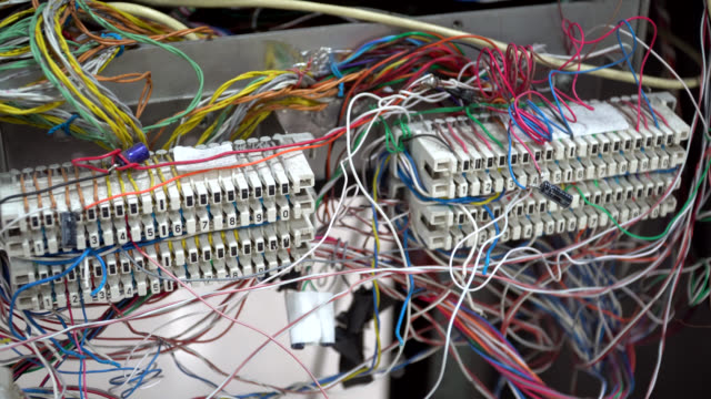Telephone cable in server room