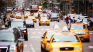 istock Telephoto city traffic with people 114773416