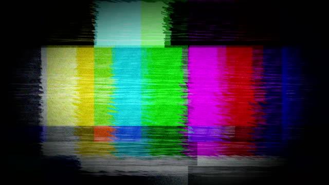 fernsehen-bars signal fehler - negativ bildart stock-videos und b-roll-filmmaterial