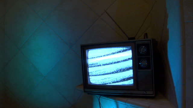 Television blue green loop video