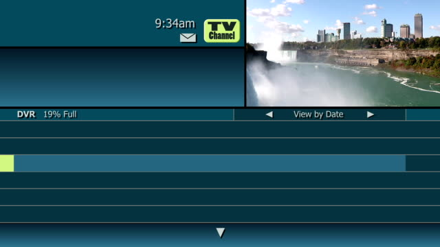 Television Guide Channel DVR Blank Simulation of an on-screen interactive television guide menu from a cable or satellite company.  Room for a custom logo in the upper left corner of the screen.  Blank areas for your own show titles. guidance stock videos & royalty-free footage