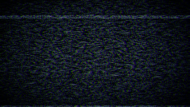 Television static with sound