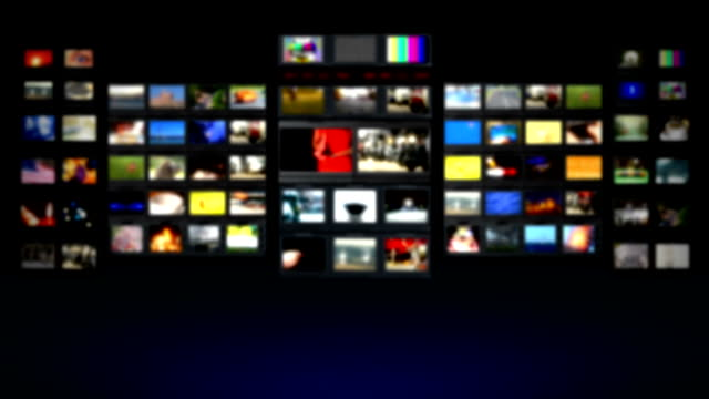 HD - Television studio. Blurred background HD - Television studio. Blurred background cable tv stock videos & royalty-free footage