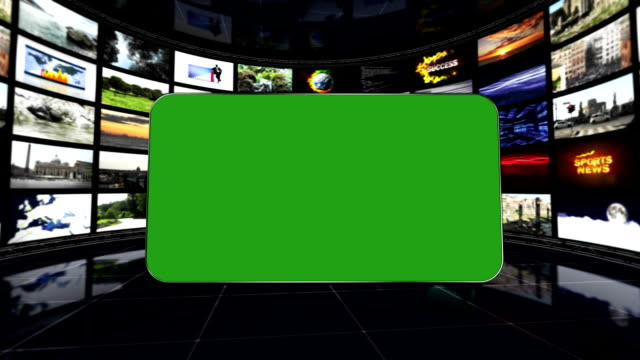 Televisions Room and Green Screen Monitor, Loop video
