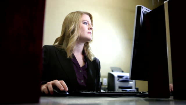 Teller using computer video