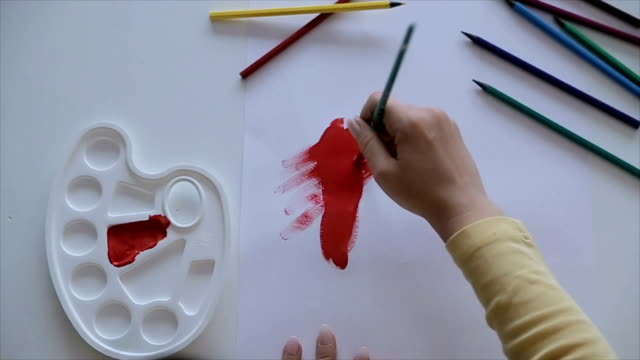 Tempera painting video