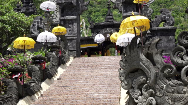 Temple Bali Indonesia, view in sunny day video