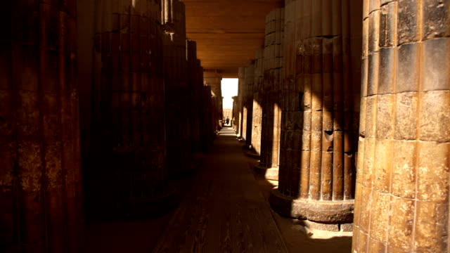 Temple Complex at Stepped Pyramid of Djoser near Cairo Egypt video