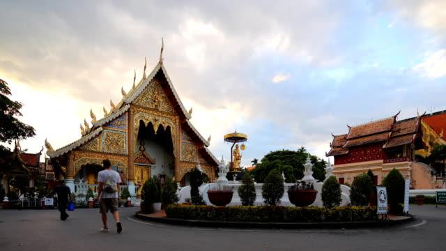 vídeos de stock, filmes e b-roll de templo em chiang mai, tailândia - wat