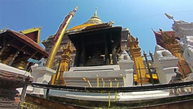 tapınak tayland - stupa stok videoları ve detay görüntü çekimi