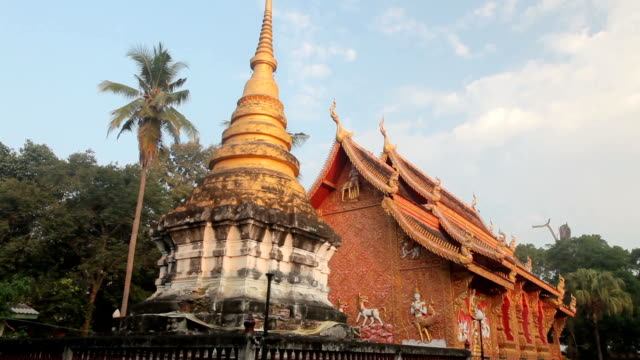 Temple in wat phra that lampang luang, Thailand video