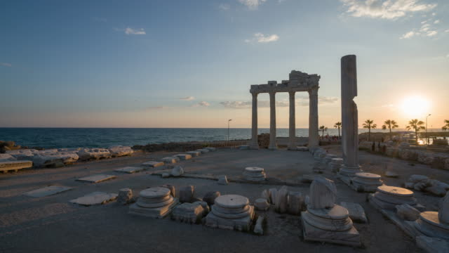 Temple of Apollo. Ancient ruins in Side Turkey video