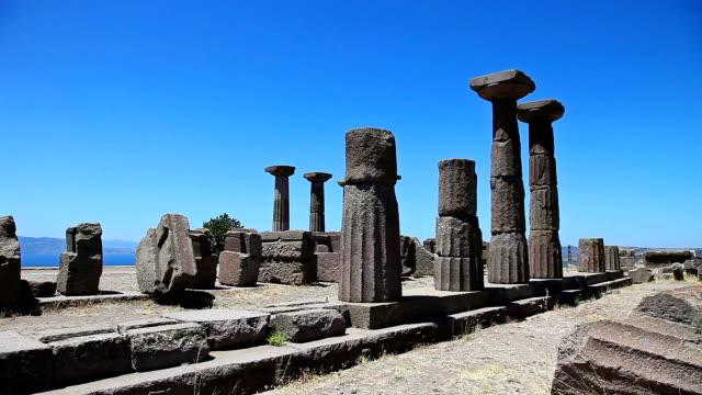Temple of Athenain Assos, Turkey video