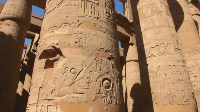 Temple of Karnak in Luxor,Egypt. Temple of Karnak in Luxor,Egypt. architectural column stock videos & royalty-free footage