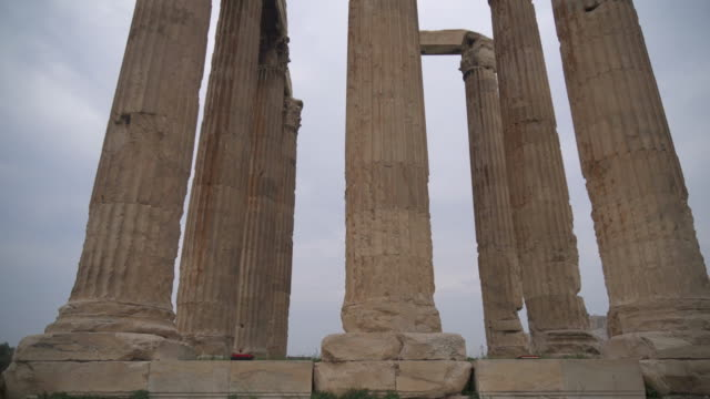 temple of olympian zeus in athens, greece. - greek architecture stock videos & royalty-free footage