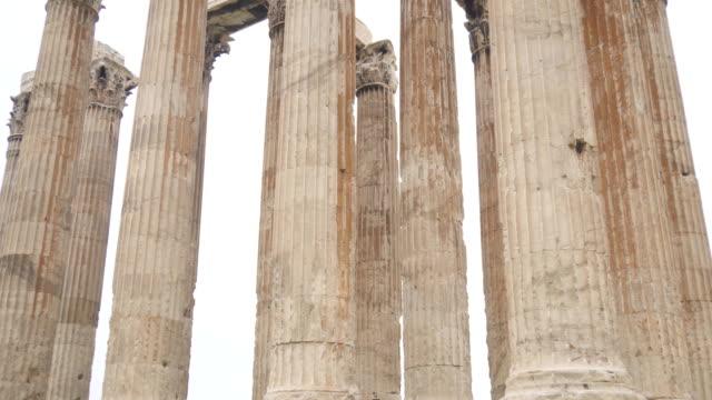 ギリシャ、アテネのゼウス神殿。 - 記念建造物点の映像素材/bロール
