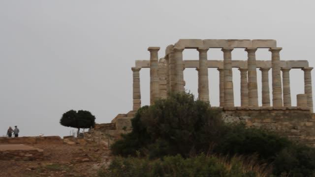 Temple of Poseidon, Sounion, Athens, Greece Temple of Poseidon, Sounion, Athens, Greece sounion stock videos & royalty-free footage