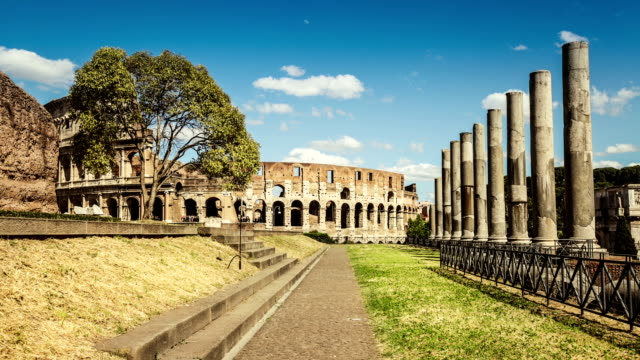 Temple of Venus and Roma by the Coliseum video