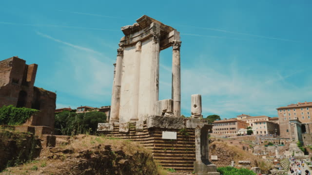 Temple of Vesta in the famous Roman Forum video
