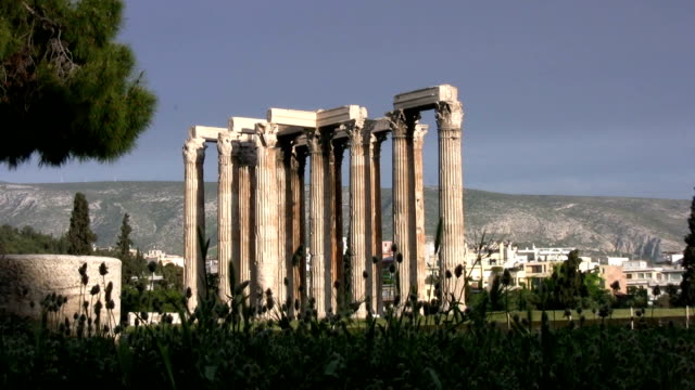 Temple of Zeus, Athens, Greece video