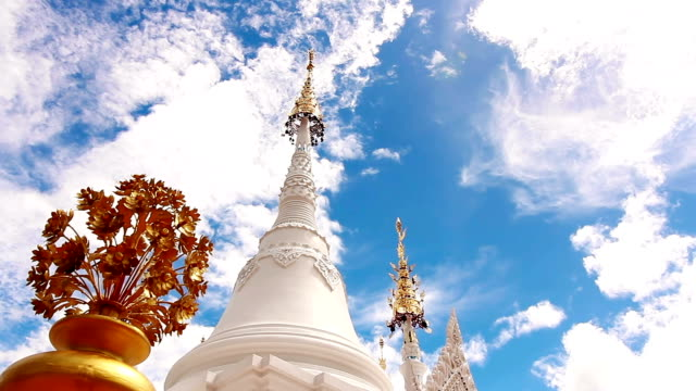 Temple Pagoda on Cloud and Blue Sky Background video