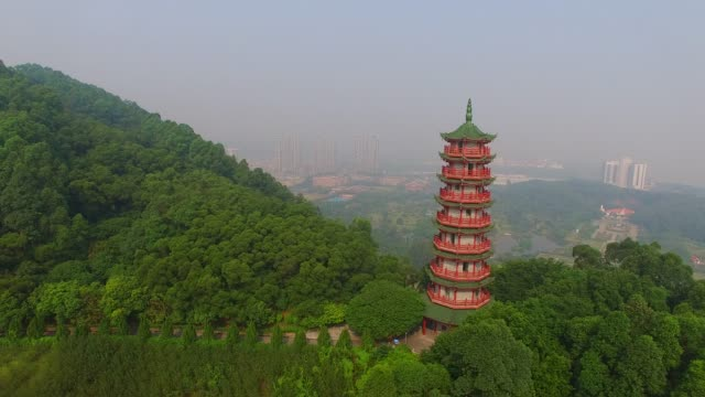 Temple pagoda Temple pagoda chinese culture stock videos & royalty-free footage