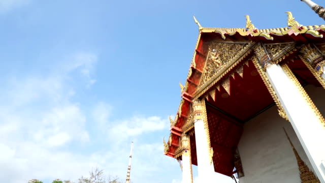 Temple roof of Thai temple, Dolly shot video