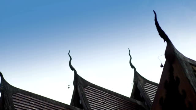 Temple's Roof of Lanna style in Chiang Mai video