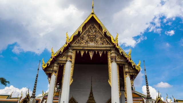 templesclouds - fiume chao phraya video stock e b–roll