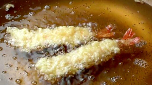 tempura of a shrimp - japanese food stock videos and b-roll footage