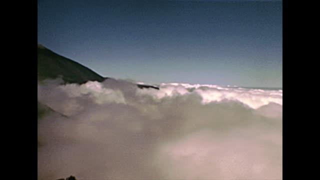 Tenerife island Teide fog
