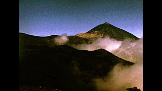 Tenerife island Teide Volcano in the fog